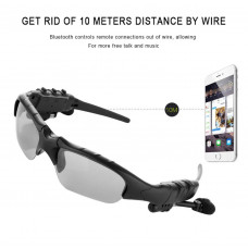 HBS-368 Sports Glasses Headset wear Section 4.1 Call + Music + Voice Report (Color : Gray)