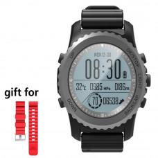 Smart Watch,S968 GPS Sport Smart Watch Waterproof Sleep Heart Rate Monitor Thermometer Altimeter Pedometer GPS Smartwatch Men(Black)